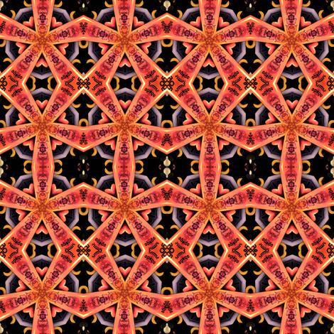 """Smooth Operator"" Kaleidascope fabric by ginascustomcreations on Spoonflower - custom fabric"