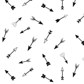 Arrows - monochrome, black and white, tribal, geometric || by sunny afternoon