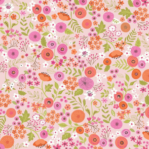 Wildflowers over Pink