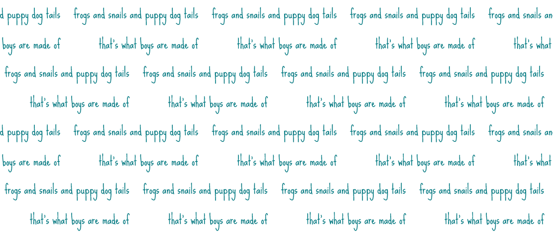 frogs and snails script in teal fabric by ali*b on Spoonflower - custom fabric