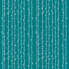 puppy dog tails white on teal