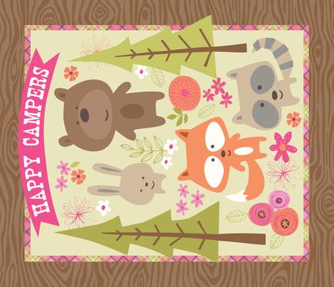 Happy Camper Big Blanket fabric by bzbdesigner on Spoonflower - custom fabric