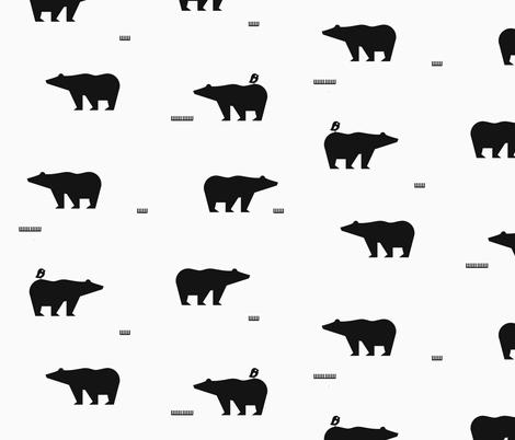 Polar bears - monochrome || by sunny afternoon fabric by sunny_afternoon on Spoonflower - custom fabric