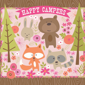 Happy Campers Wallhanging
