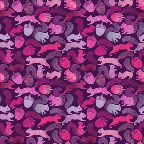 Squirrels and Acorns fabric by rubydoor on Spoonflower - custom fabric