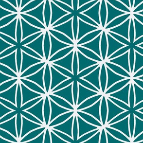 flower grid green