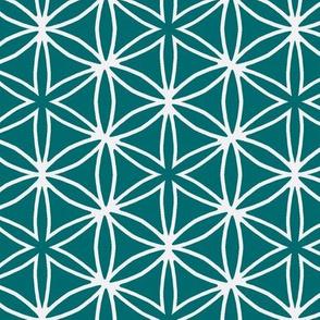 flower grid green