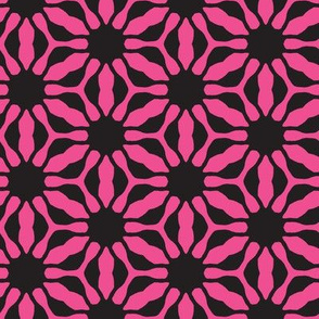 pink flower grid