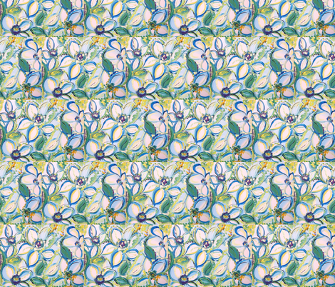 The scent of summer  fabric by myartself on Spoonflower - custom fabric