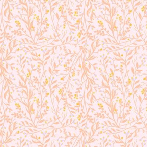 Tangled, Soft Peach, Gold & Periwinkle, Smaller
