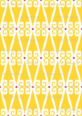 Minerva Dagger - Yellow on White