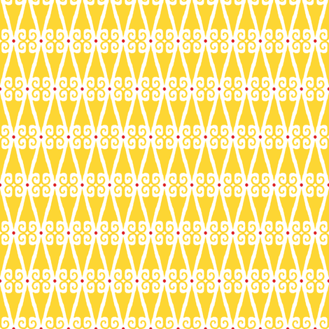 Minerva Dagger - Yellow on White fabric by siya on Spoonflower - custom fabric