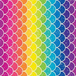 Rainbow Glitter Scales Vert