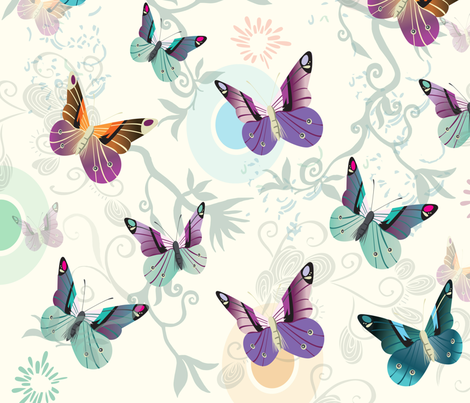 Butterfly pattern fabric by camcreative on Spoonflower - custom fabric