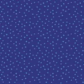 Leaves Dots Deep Blue