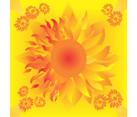Sun/Flower Large fabric by magicinyourlivingroom on Spoonflower - custom fabric