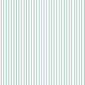 Nautical Aqua Green White Stripe || Pinstripe Ocean Water