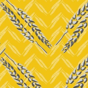Chevron Mustard Yellow  || Farm House Gray Grey Wheat  Midwest Gold Thanksgiving Fall Jumbo Scale _Miss Chiff Designs