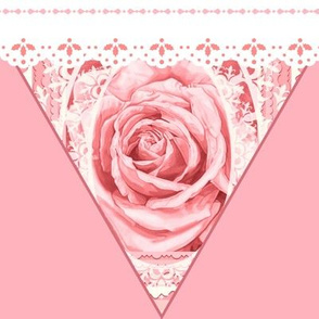 Bridal Rose Pink Lace Bunting