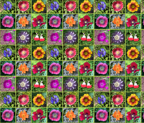 gardensquares fabric by cheriedesigns on Spoonflower - custom fabric