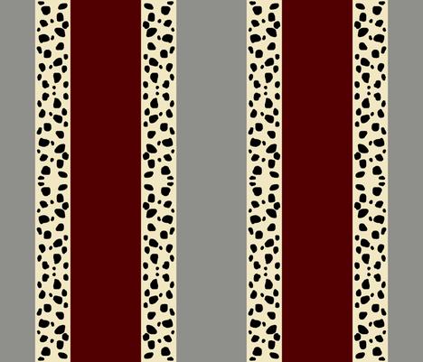 Cheetah Stripes Vertical- Maroon Glacier fabric by drapestudio on Spoonflower - custom fabric