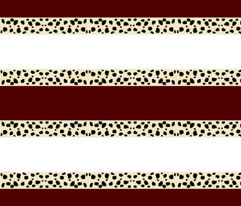 Cheetah Stripes Horizontal  -  Maroon Snow fabric by drapestudio on Spoonflower - custom fabric