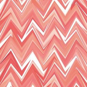 coral gemstone zigzag