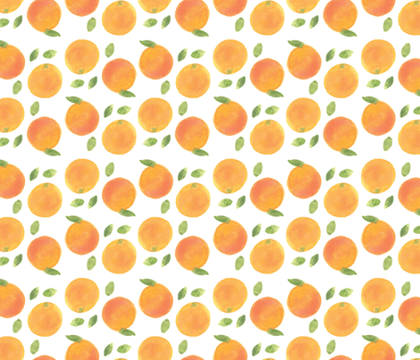 watercolor oranges fabric by draytonld on Spoonflower - custom fabric