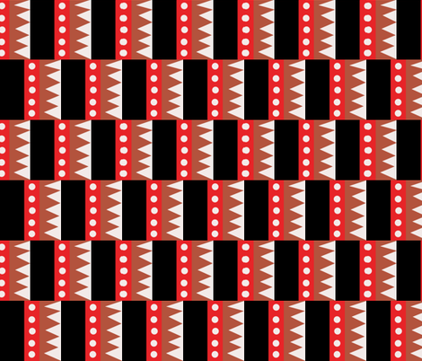 Offset Block Print fabric by thestylesafari on Spoonflower - custom fabric