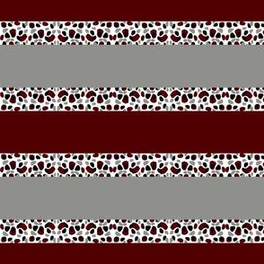 Cheetah Stripes Horizontal- Maroon Glacier licorice