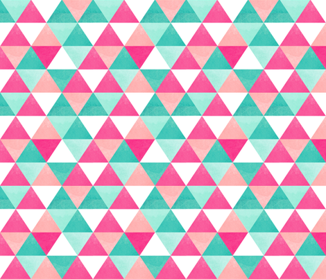 watercolor triangles pink large fabric by draytonld on Spoonflower - custom fabric
