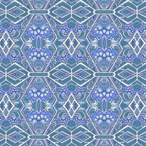 Blue Diamond Flower Dance