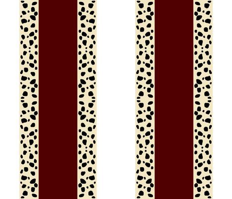 Cheetah Stripes Vertical  -  Maroon Snow fabric by drapestudio on Spoonflower - custom fabric