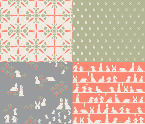 Rabbit relatives fabric by juliesfabrics on Spoonflower - custom fabric