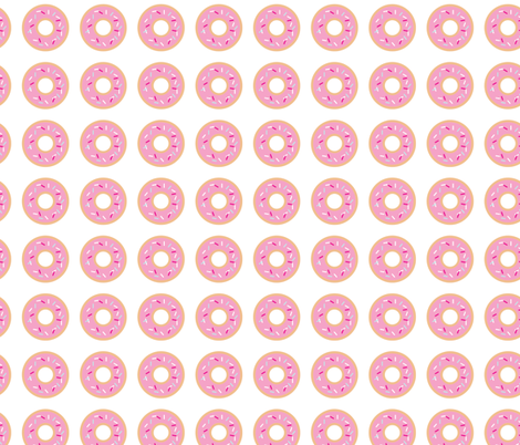 pink donuts fabric by draytonld on Spoonflower - custom fabric