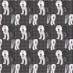 Old English Sheep Dog || Farm Pet Animal Black Gray Pink white _Miss Chiff Designs