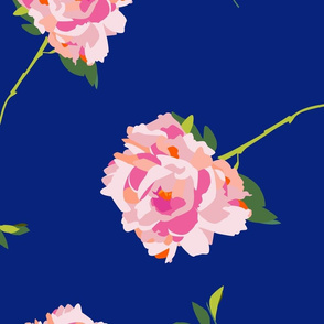 Royal blue large scale peony