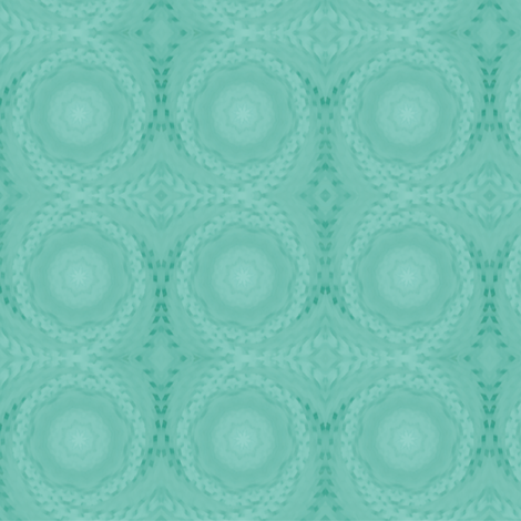 Swirls_Cane_Flower_Lge_Aqua fabric by karwilbedesigns on Spoonflower - custom fabric