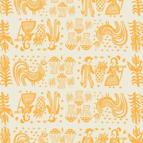 Pumpkin Butterprint All Over Design-Large
