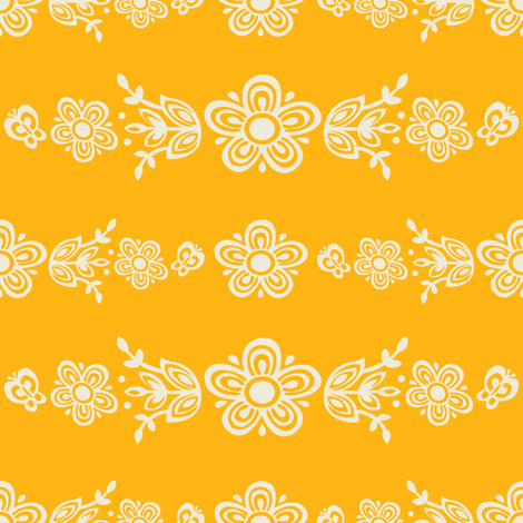 White On Gold All Over Butterfly Gold-Large fabric by halloweenhomemaker on Spoonflower - custom fabric