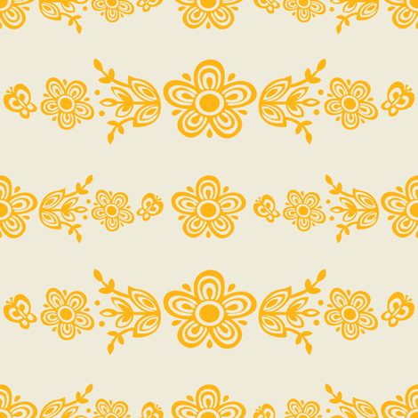 Gold On White All Over Butterfly Gold fabric by halloweenhomemaker on Spoonflower - custom fabric