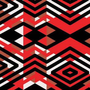 Red Black abstract triangles