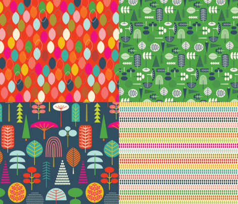 EVERY FAMILY TREE IS A LITTLE FUNKY fabric by katerhees on Spoonflower - custom fabric