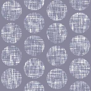 Dove tweedy linen weave polka dots on dove by Su_G