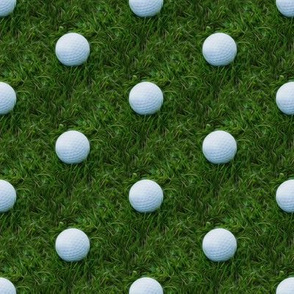 golf and grass - painted