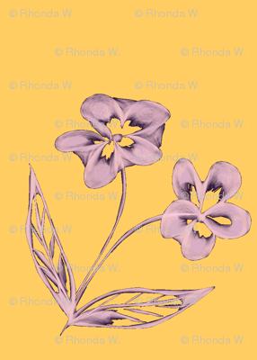 Pansy Garden Pretties on Sunshine Yellow