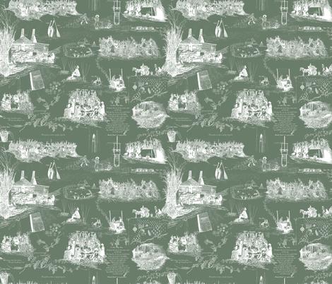 A Hoppin' We Will go    fabric by a_bushel_of_hops on Spoonflower - custom fabric