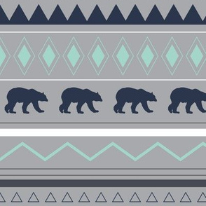 bear tribal pattern colorful
