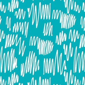 Scribblings and doodles fun abstract ink lines Scandinavian style blue white