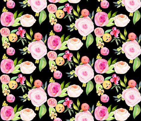 Rwatercolor_floral_pink_and_yellow_black__shop_preview